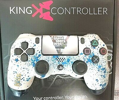 PS4 KING-CONTROLLERS Soft Shell*KING-CUSTOM* GTA-5 * Extra Paddel in OVP
