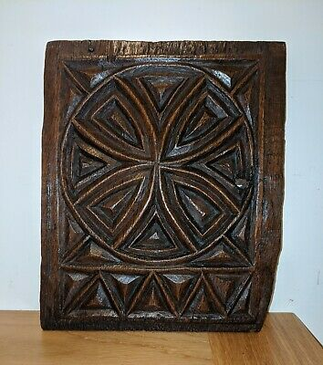 16th Century Chip Carved Oak Panel