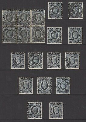 GB KGVI wholesale lot of used high value 10/- stamps, good Cat value