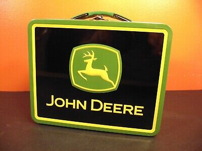 """John Deere 6""""x8""""x3"""" Collectors Tin Lunch Box - Exceptional Value!"""