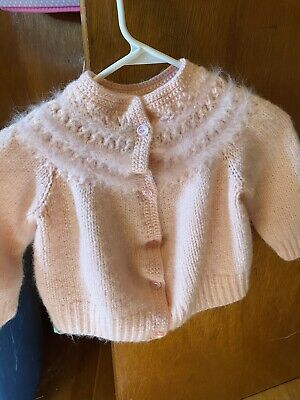Knitted Hand Made Childs Pink Sweater
