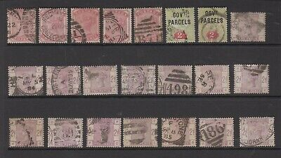 GB QV 2d stamps, a specialised study of used shades & postmarks, high Cat Val