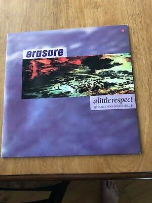 Erasure A Little Respect 12 Inch 1988 Sire Records EX Synth Pop