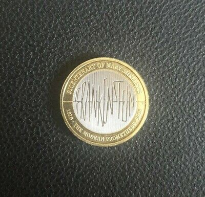 2018 Mary Shelley's Frankenstein Two Pound Coin £2