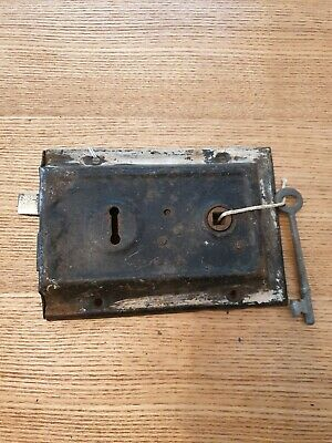 Vintage Steel Rim Lock Door