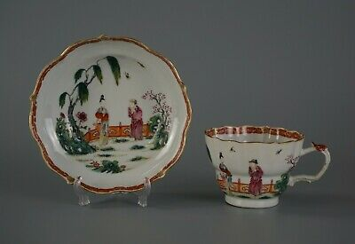 A Set of Chinese Famille Rose Porcelain Cup and Saucer Dish / Plate