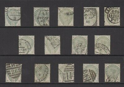 GB QV 5d stamps, a specialised study of used shades & postmarks, high Cat Value