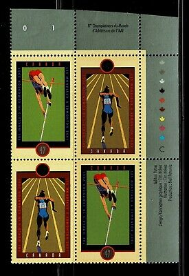 Canada - ML#852 - IAAF World Champships, UR Pl Block Scott #'s 1908a MNH
