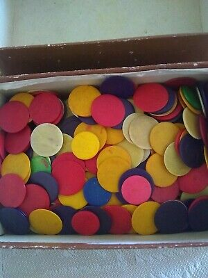 Vintage Bone Casino/Game Counters - Approximately 280