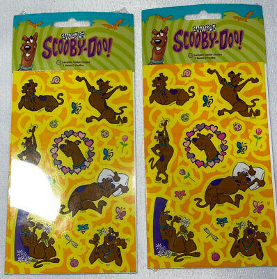 """Sandylion Scooby-doo hearts Stickers lot of 2 SHEETS 4"""" X 6 """""""