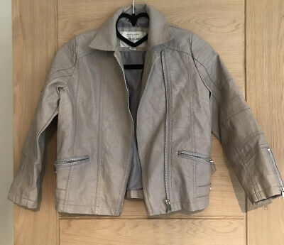 Girls River Island Faux Leather Jacket Age 8