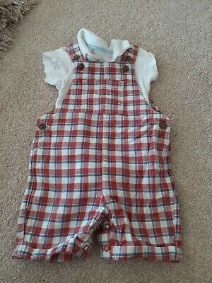 Baby Boys Marks And Spencer Dungaree Set