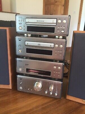 Vintage denon Hifi System With Speakers ..Amplifier Tuner cd  Tape Player