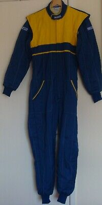 Sparco race suit Blue and Yellow size 54 C/w Bag