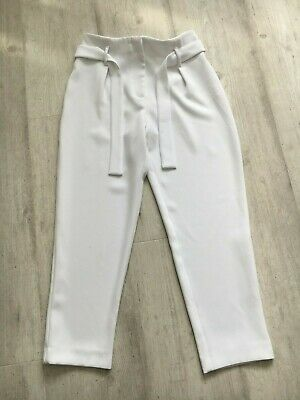 Girls White River Island Trousers Age 9 Years