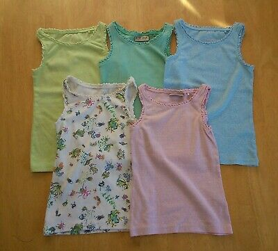 Girls Next/M&S summer bundle vests age 3yrs and shorts age 3-4yrs