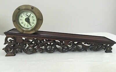 Vintage Brass Incline Plane Rolling Drum Gravity Clock ~ Nice