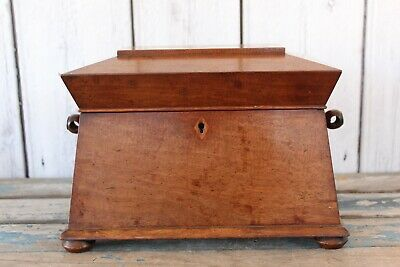 Antique Regency Mahogany Sarcophagus Two Section Tea Caddy Restoration Project