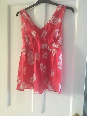 Next maternity top size 16 pink floral