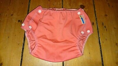 Motherease Airflow Cloth Nappy Cover Wrap Extra Large XL Coral preloved