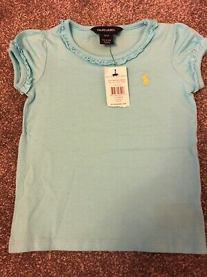 Ralph Lauren Girls Light Blue Tshirt Age 3 T3 BNWT