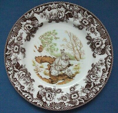 Spode Woodland Snowshoe Rabbit Dinner Plate 10¾ Inches Unused Made In England
