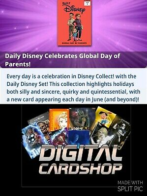Topps Disney Collect Card Trader Presale June Disney Daily Set of 31 Cards