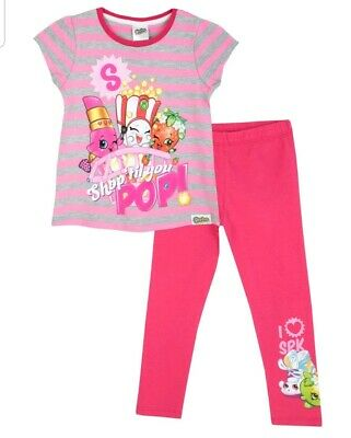 Girls BNWT Shopkins Top & Leggings Set age 7 to 8