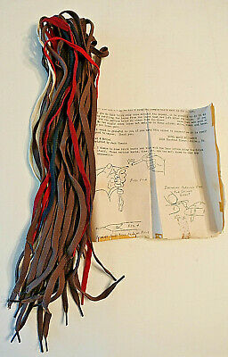 Vintage 1940's Jack Chanin SHOE LACE MIRACLE MAGIC TRICK w/Instructions