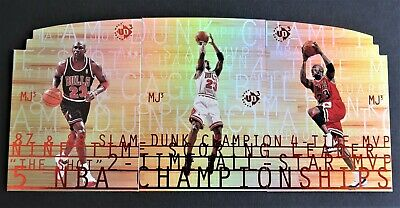 RARE}} Michael Jordan = (The Last Dance) 1997-98 UD3/MJ3, 3-Card SP Die-Cut Set