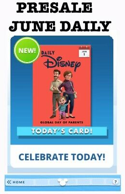 Presale: Daily Disney Month Of June-30 Cards Sent Daily-Topps Disney Collect