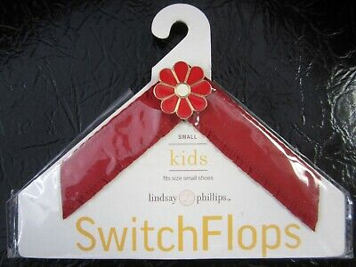 """Lindsay Phillips """"Scarlett"""" Switch Flop Straps KIDS Size Small Red"""