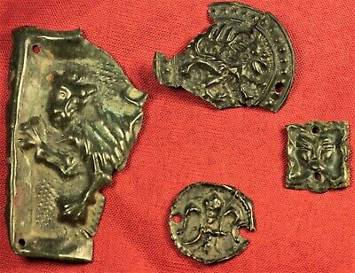 Lot ot 4 Fine Medieval Fittings - 13. Century