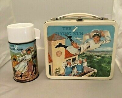 Vintage 1968 The Flying Nun Lunchbox And Thermos