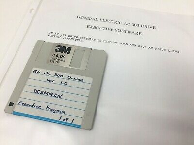 GE AC 300 Drive Software Disk - Version 1.0
