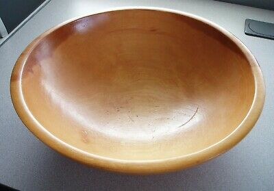 Vintage Antique Munising Wooden Dough Chopping Bowl Out of Round Farmhouse Decor