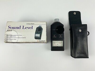 Realistic Sound Level Meter With Case - 33-2050 Radio Shack