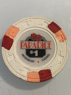 PARADICE RIVERBOAT CASINO $1 CASINO CHIP 3.99 Shipping