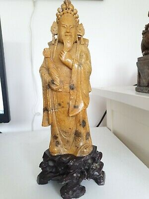 SUPERB ORIENTAL STATUE Approximately 29 cm tall.