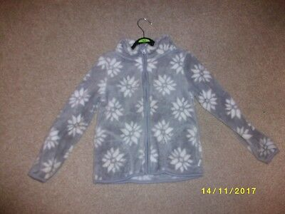 Girls Grey and White Long Sleeved Zipped Front Jacket Age 4-6 Years from lupilu
