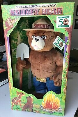 "Limited Edition 50th Anniversary 22"" SMOKEY BEAR Plush Toy/Doll"
