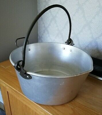 Vintage Swan Aluminium Jam Preserve Pan With Swing Handle 12""