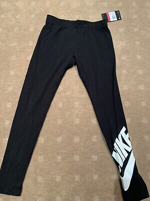 Nike Girls Black Tights Size Large 12 Years+ Brand New With Tags