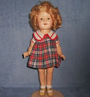 "Vintage Antique Ideal Composition Doll~16"" SHIRLEY TEMPLE~Original~NRA Tag Dress"