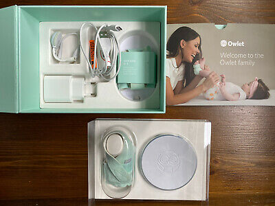 In box Owlet Smart Sock Baby Heart Rate and Oxygen Level Monitor