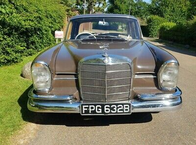 1964 Mercedes 220seb Fintail W111 66800 miles and good throughout.