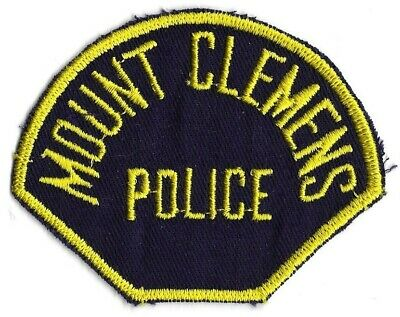 Mount Clemens MICHIGAN MI Police patch OLD