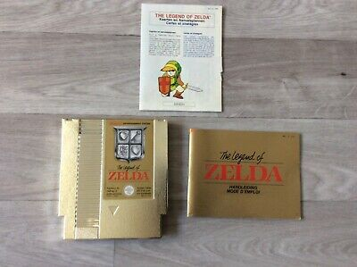 Jeu NINTENDO NES THE LEGEND OF ZELDA + notice Fr fah pal