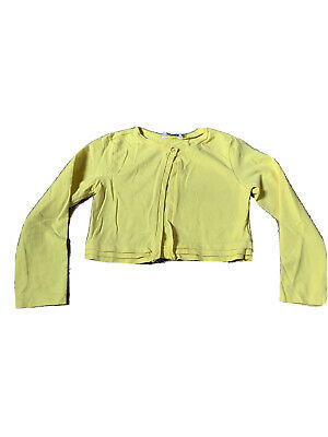 Girls Spanish Mayoral Yellow Long Sleeve Cardigan Age 7 Years. Summer