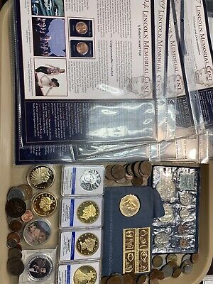 Junk Drawer Lot Of Over 100 American And Foreign Coins In Original Packaging